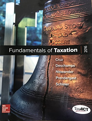 FUNDAMENTALS OF TAXATION 2016           N/A 9781259534829 Front Cover