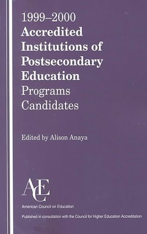 1999-2000 Accredited Institutions of Post-Secondary Education Programs - Candidates 24th 9781573562829 Front Cover