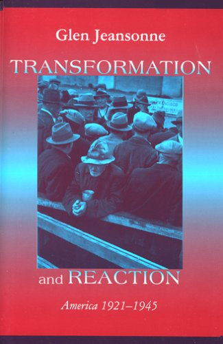 Transformation and Reaction America 1921-1945  1994 edition cover