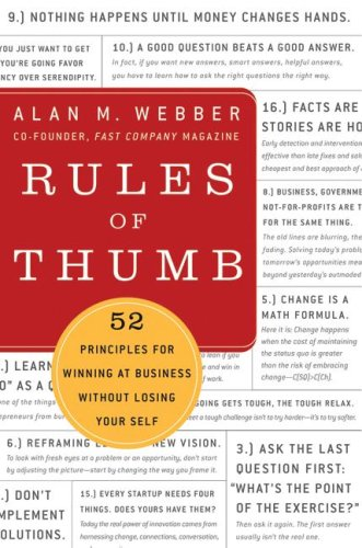 Rules of Thumb 52 Truths for Winning at Business Without Losing Your Self  2009 9780061721830 Front Cover