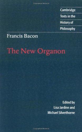 Francis Bacon The New Organon  2000 edition cover