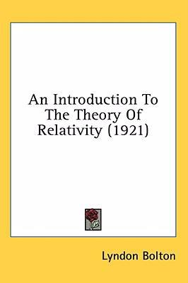 Introduction to the Theory of Relativity N/A edition cover
