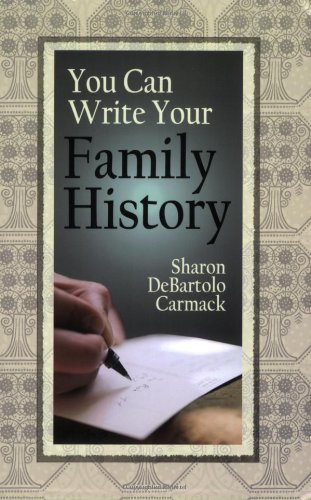 You Can Write Your Family History   2009 edition cover