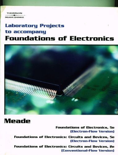 Foundations of Electronics  5th 2007 (Lab Manual) 9781418041830 Front Cover