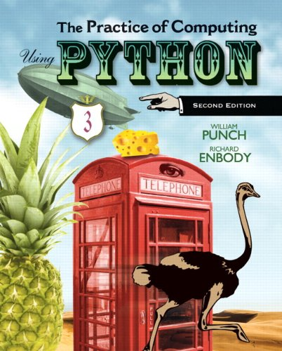 Practice of Computing Using Python  2nd 2013 edition cover