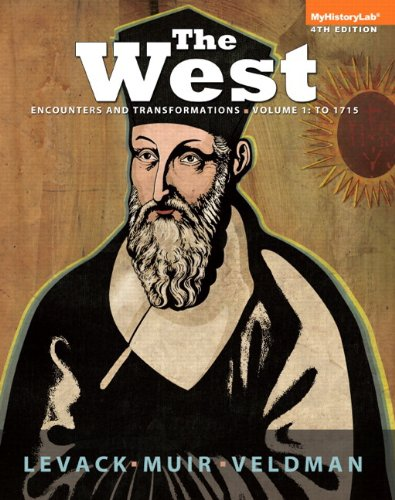 West Encounters and Transformations Volume 1 Plus NEW MyHistoryLab with Pearson EText --Access Card Package 4th 2014 edition cover