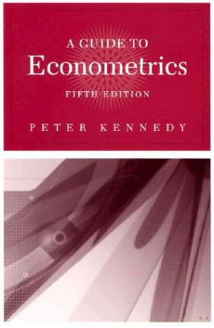 Guide to Econometrics  5th 2003 edition cover