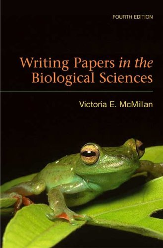 Writing Papers in the Biological Sciences  4th 2006 (Revised) edition cover