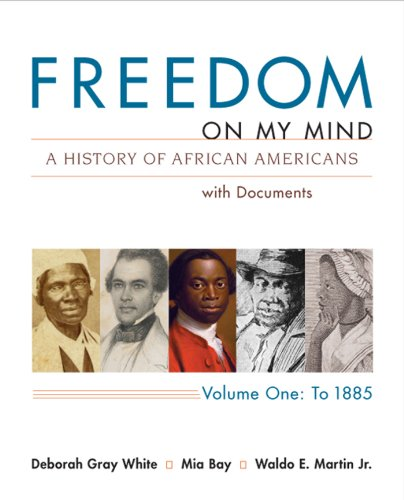 Freedom on My Mind A History of African Americans with Documents  2013 edition cover