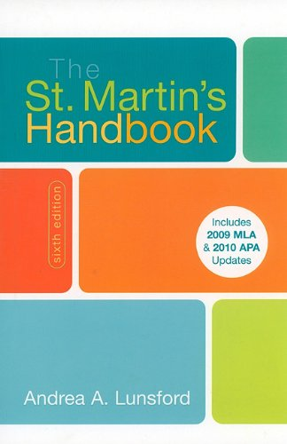 St. Martin's Handbook with 2009-2010  6th (Revised) edition cover