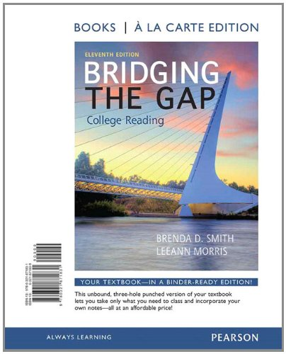 Bridging the Gap, Books a la Carte Edition  11th 2014 edition cover