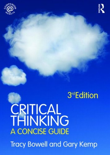 Critical Thinking A Concise Guide 3rd 2009 (Revised) edition cover