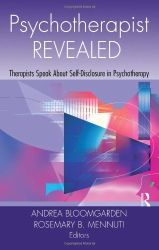 Psychotherapist Revealed Therapists Speak about Self-Disclosure in Psychotherapy  2009 edition cover