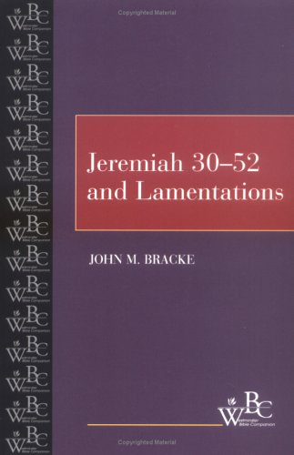 Jeremiah 30-52 and Lamentations   2000 edition cover