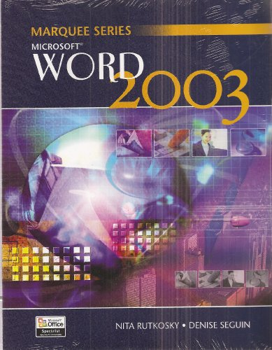 Microsoft Word 2003 1st 2004 9780763820831 Front Cover