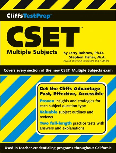 CliffsTestPrep CSET Multiple Subjects  2003 edition cover