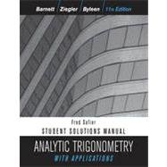Analytic Trigonometry with Applications  11th 2012 edition cover