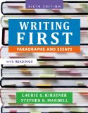 Writing First With Readings: Paragraphs and Essays  2014 edition cover