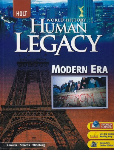 Holt World History: Human Legacy Student Edition Modern Era 2008  2007 9780030938832 Front Cover