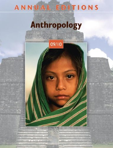 Anthropology 09/10  32nd 2009 (Annual) 9780073397832 Front Cover