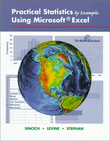 Practical Statistics by Example Using Microsoft Excel   1999 edition cover
