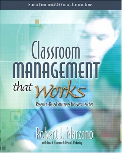 Classroom Management That Works Research-Based Strategies for Every Teacher  2009 9780135035832 Front Cover