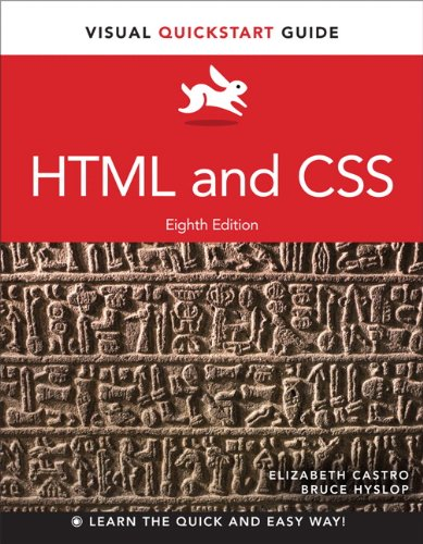 HTML and CSS Visual QuickStart Guide 8th 2014 edition cover