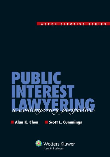 Public Interest Lawyering A Contemporary Perspective  2013 edition cover