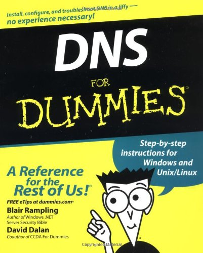 DNS for Dummies   2003 9780764516832 Front Cover