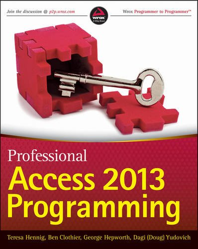 Professional Access 2013 Programming   2013 edition cover