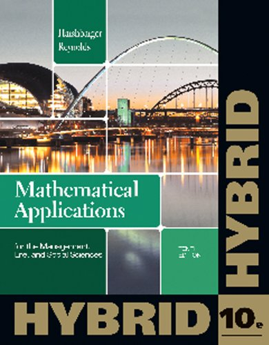 Mathematical Applications for the Management, Life, and Social Sciences, Hybrid  10th 2013 9781133364832 Front Cover
