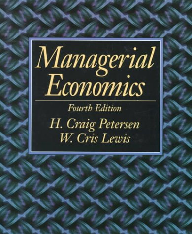 Managerial Economics  4th 1999 edition cover