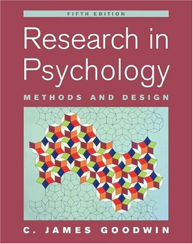 Research in Psychology Methods and Design 5th 2008 (Revised) edition cover