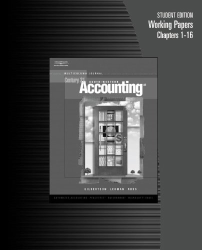 Century 21 Accounting Multicolumn Journal 8th 2006 9780538972833 Front Cover