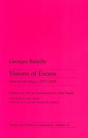 Visions of Excess Selected Writings, 1927-1939  1985 edition cover
