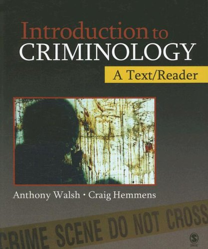 Introduction to Criminology A Text/Reader  2008 edition cover