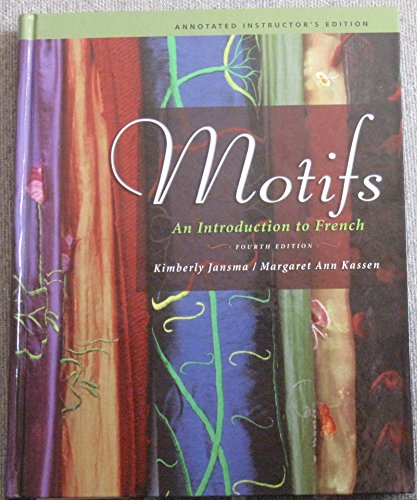 MOTIFS:INTRO.TO FRENCH-W/2 CDS 4th 2007 edition cover