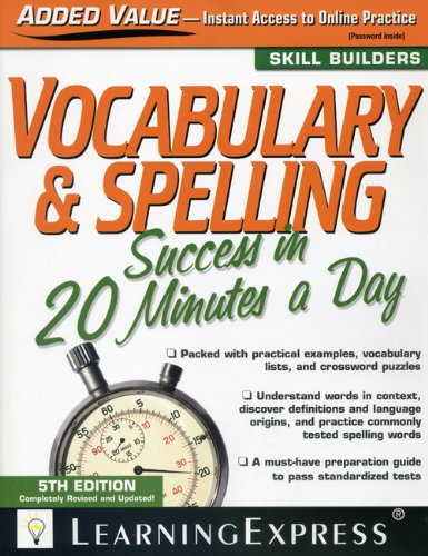 Vocabulary and Spelling Success in 20 Minutes a Day  5th 2009 (Revised) 9781576856833 Front Cover