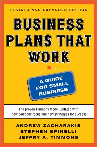 Business Plans That Work A Guide for Small Business 2nd 2011 edition cover