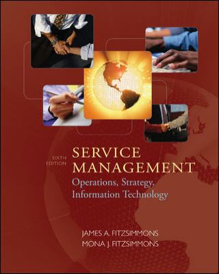 Service Management Operations, Strategy, and Information Technology 6th 2008 edition cover