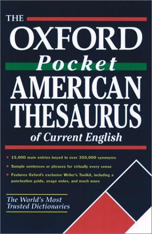 Oxford Pocket American Thesaurus of Current English   2002 9780195150834 Front Cover