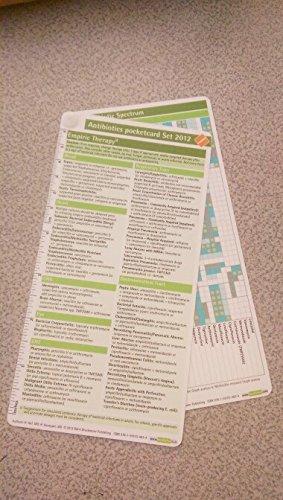 Antibiotics Pocketcard Set 2012:   2012 edition cover