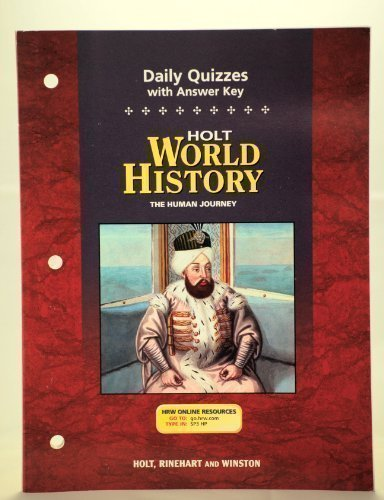 World History The Human Journey: Daily Quizzes with Answer Key 5th 9780030388835 Front Cover