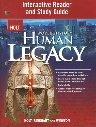 World History Human Legacy N/A 9780030937835 Front Cover