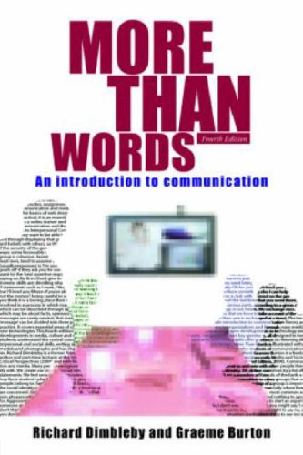 More Than Words An Introduction to Communication 4th 2007 (Revised) edition cover
