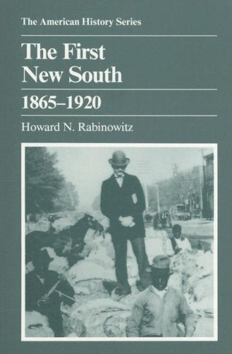 First New South, 1865-1920 N/A edition cover