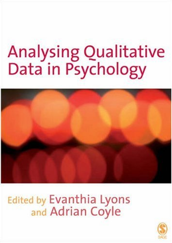 Analysing Qualitative Data in Psychology   2008 edition cover