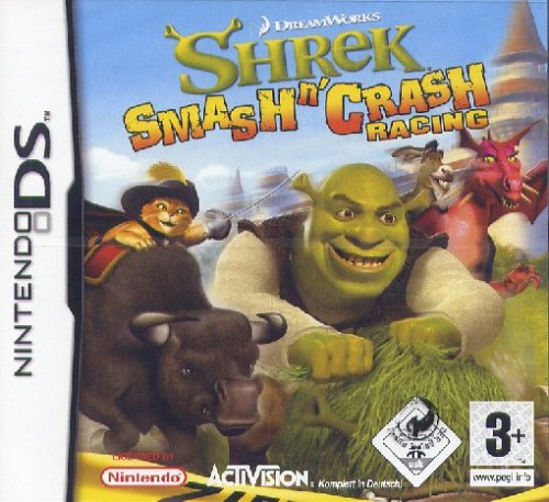 Shrek Smash n'Crash Racing Nintendo DS artwork