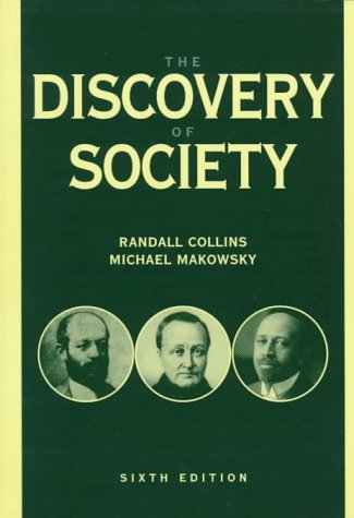 Discovery of Society  6th 1998 9780070118836 Front Cover