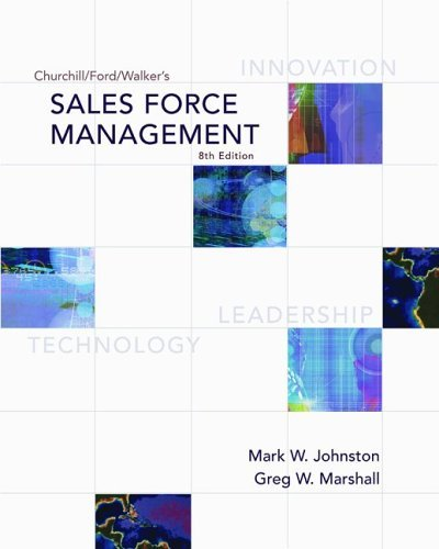Sales Force Management  8th 2006 (Revised) edition cover